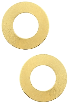 Gold finish Circle Studs by Eurumme Jewellery