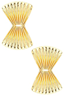 Gold finish Orient Studs by Eurumme Jewellery