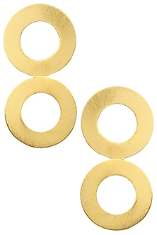 Gold finish Intercircle Studs by Eurumme Jewellery