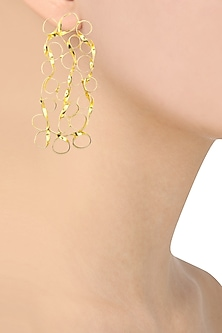 Gold finish Mesh Drop earrings