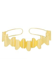 Gold Plated Swirl Pattern Choker Necklace by Eurumme Jewellery