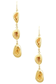 Gold Finish Cup Duzies Earrings by Eurumme Jewellery