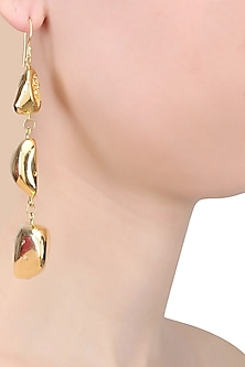 Gold Finish Cup Duzies Earrings