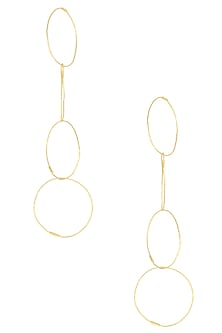 Gold Finish Detachable Circular Earrings by Eurumme Jewellery