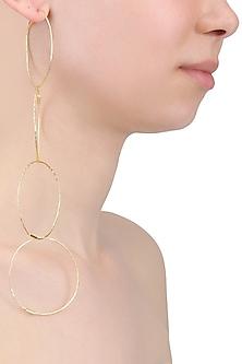 Gold Finish Detachable Circular Earrings by Eurumme Jewellery