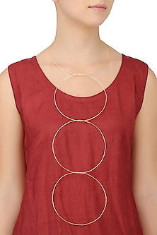 Gold Finish Detachable Circular Neckpiece by Eurumme Jewellery