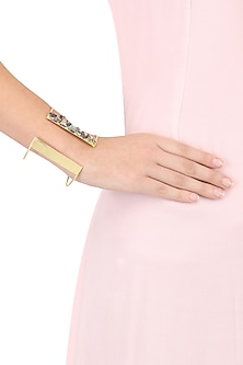 Gold Finish Mosaic Abalone Wrist Cuff by Eurumme Jewellery