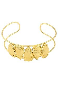 Gold Finish Penta Choker by Eurumme Jewellery