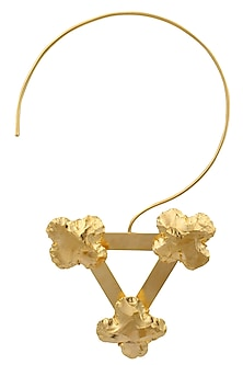Gold Finish Gardenia Necklace by Eurumme Jewellery
