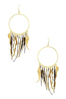 Gold Finish Autumn Earrings by Eurumme Jewellery
