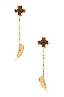 Gold Finish Bloom Earrings by Eurumme Jewellery