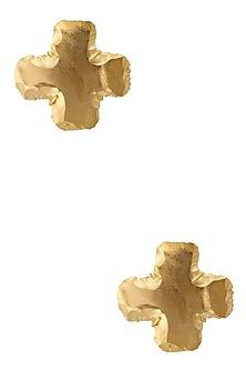 Gold Finish Marigold Studs by Eurumme Jewellery