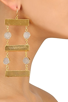 Gold Finish Ladder Earrings by Eurumme Jewellery