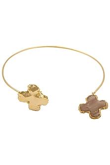 Gold Finish Marigold Choker by Eurumme Jewellery