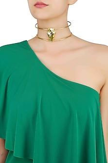 Gold Finish Uni-Choker by Eurumme Jewellery