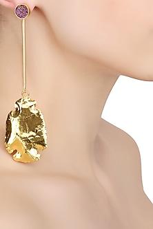 Gold Finish Phoenix Earrings by Eurumme Jewellery