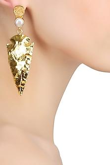 Gold Finish Glowash Earrings by Eurumme Jewellery