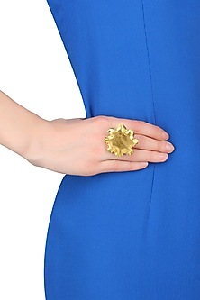Gold Finish Chakra Glow Ring by Eurumme Jewellery