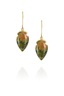 Wings of unakite earrings by Eurumme Jewellery
