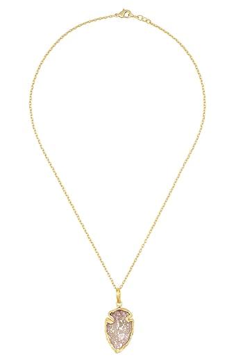Peach meteoroid pendant by Eurumme Jewellery