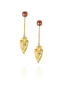 Maroon eirene earrings by Eurumme Jewellery