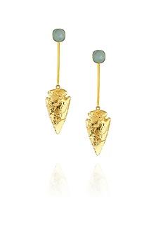 Green Eirene earrings by Eurumme Jewellery