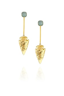 Green Eirene earrings by Eurumme Jewellery
