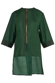 Emerald Green Centre Zip Shirt