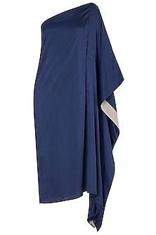 Royal Blue Asymmetrical One Shoulder Dress