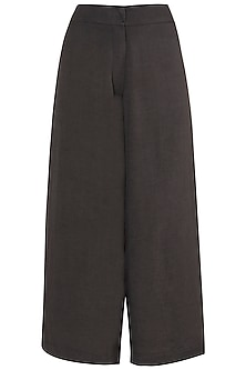 Dark Grey Side Pleated Pants