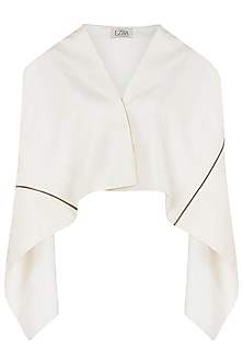 Ivory Asymmetrical Square Jacket