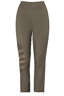 Bronze Strapped Pants