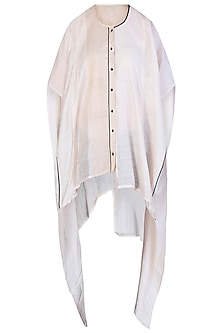 White Oversized Kaftan Shirt
