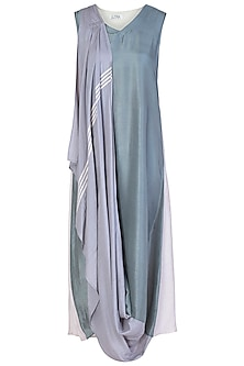 Dusky Blue Embellished Maxi Dress