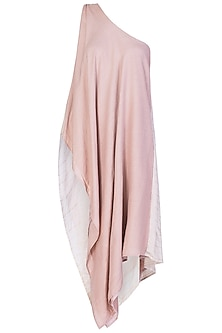 Blush Pink One Shoulder Top by EZRA