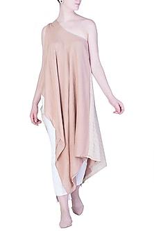 Blush Pink One Shoulder Top by EZRA
