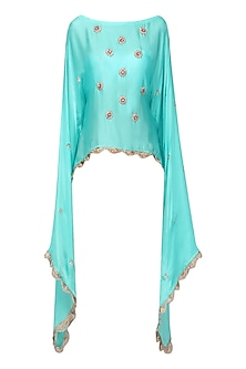 Sky Blue Nargis Embroidered Cape