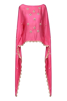 Light Pink Nargis Embroidered Cape by Fancy Pants