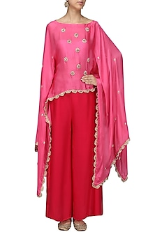 Pink Nargis Embroidered
