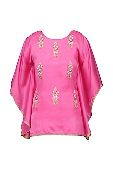 Light Pink Meera Embellished Cape Sleeves Top