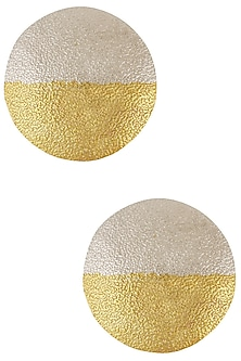 Gold and Silver Plated Circle Earrings by Finura By Richa