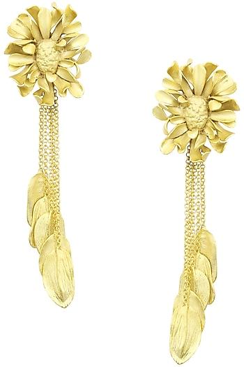 Firdaus By Akshita Gold Textured Earrings