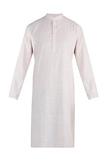 Cream handloom kurta