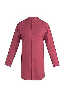 Rust red long shirt