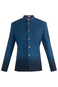 Indigo 2 tone jodhpuri jacket