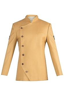 Mustard twill jodhpuri jacket