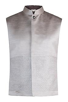 Silver nehru jacket