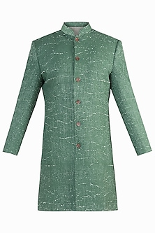 GREEN RIB WOVEN INDOWESTERN JACKET<br />