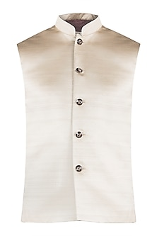 Pale gold nehru jacket