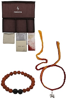 Damru Charm Pendant and Moli Thread Rakhi Set
